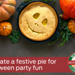 Decorate a festive pie for Halloween party fun