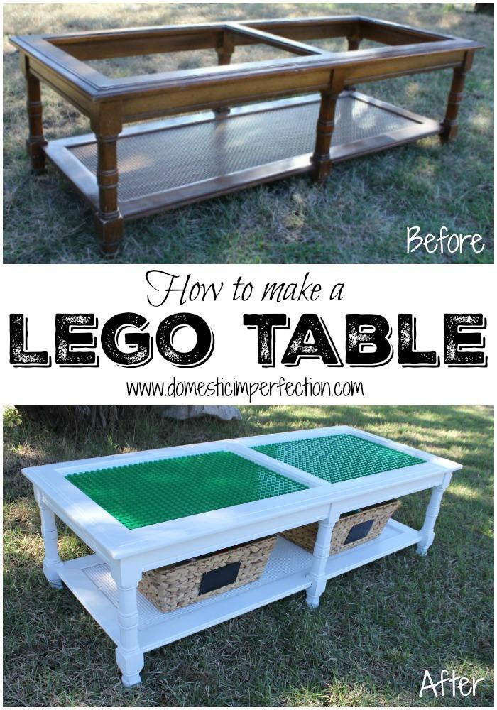diy lego table flip