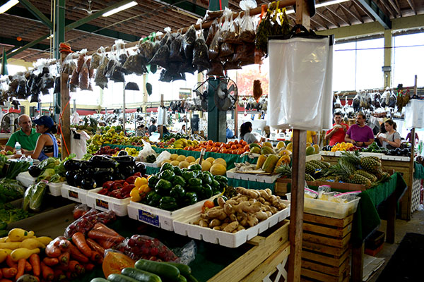A typical weekend at Redland Market Village's Farmers Market overflowing with and natural, locally grown variety.