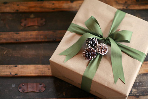 Simple-Pine-Cone-Brown-Paper-Gift-Wrap