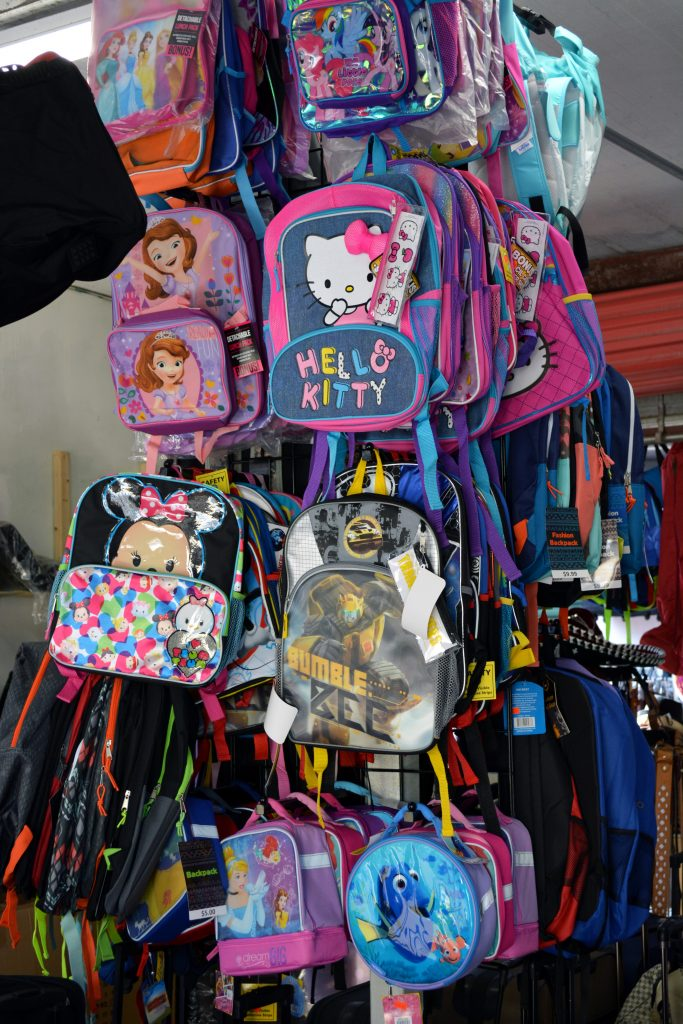 backpacks at Redland Market Village