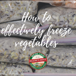 How to effectively freeze vegetables